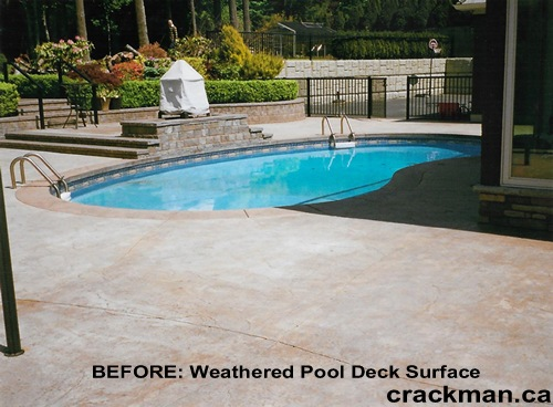This lovely pool can look so much better with a new custom colour tint and sealant..