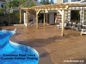 We specialize in custom colour tinting of all stamped concrete...
